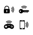 wireless gadget smart house simple related icons vector image vector image