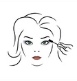 Woman makeup vector image vector image