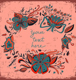 Floral background with frame and a space for text vector image