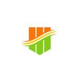 abstract shape bar color technology logo vector image
