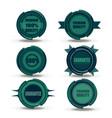 green badge food logo design organic icon sign vector image
