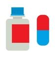 Medicine bottle vitamins jar vector image