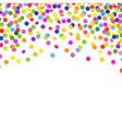 Color Confetti Frame vector image