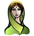 Indian woman in a sari vector image