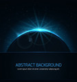 abstract background with planet and stars on night vector image vector image