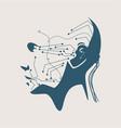 abstract humanoid robot vector image