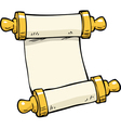 ancient scroll doodle vector image