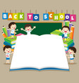 back to shcool bigbook vector image vector image
