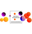 balls shapes vector image