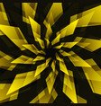 black star and yellow abstract background vector image