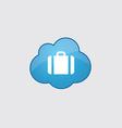 Blue cloud Case icon vector image