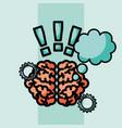 brain creative idea thinking exclamation symbol vector image