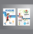 brochure flyer magazine cover booklet poster vector image vector image