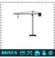 building crane icon flat vector image vector image
