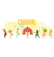carnival design template vector image vector image