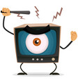 censorship terror and brainwash on tv vector image vector image