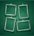 chalk cute photo frames abstract picture frame vector image