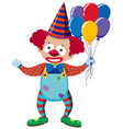 clown with colorful balloons vector image