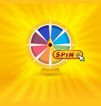 colorful fortune wheel banner gambling website vector image vector image