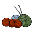 colorful yarn doodles for print logo creative vector image