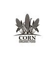corn vegetable emblem vector image vector image