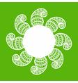 creative floral design background vector image vector image