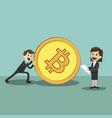 crypto-currency market happy successful vector image