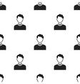 Curly boy icon black Single avatarpeaople icon vector image