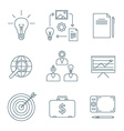 dark outline creative business process icons set vector image