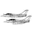 dassault rafale vector image vector image