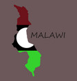 detailed malawi map vector image