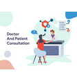 doctor and patient consultation vector image vector image