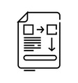 document data line icon concept sign outline vector image