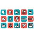 doodle icon set health vector image vector image