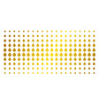 drop gold halftone array vector image