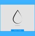 drop water icon isolated design element vector image vector image