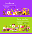 easter greetings website banners vector image vector image