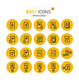 easy icons 17c docs vector image vector image