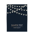 elegant design template with lights garland and vector image vector image