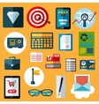 Financial and commerce flat icons vector image