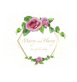 floral wedding invitation card vector image vector image