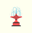 fountain filled with water park decoration icon vector image