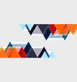 geometric triangle and hexagon abstract background vector image vector image
