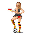 Germany Soccer Fan vector image vector image
