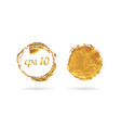 golden circle frame and wax seal set vector image