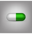 Green and white capsule pill vector image