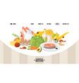 healthy food website design vector image