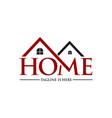 home property logo vector image vector image