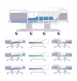 hospital examination couch set vector image