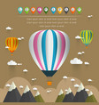 Hot air balloon in the sky over moutain